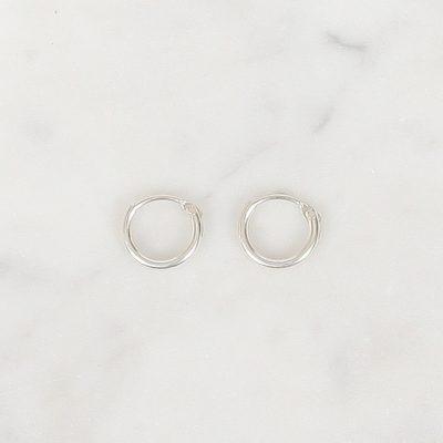 Tiny Silver Hoops 8 mm, Tiny Silver Hoops 9 mm, Tiny Silver Hoops 10 mm
