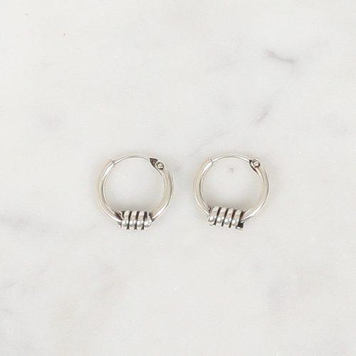 Zilver hoops Djoco 10 mm, Silver hoops Djoco 10 mm