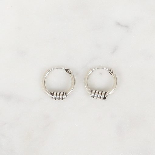 Zilver hoops Djoco 10 mm, Silver hoops Djoco 10 mm