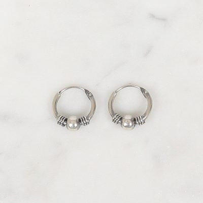 Silver hoops Oeki 10 mm, Zilver hoops Oeki 10 mm