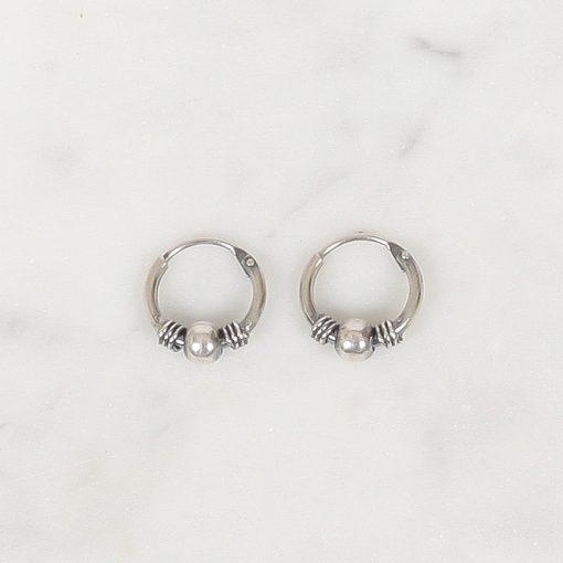 Silver hoops Oeki 10 mm, Zilver hoops Oeki 10 mm
