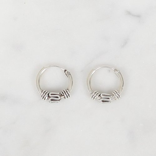Zilver hoops Ofkooi 10 mm, Silver hoops Ofkooi 10 mm